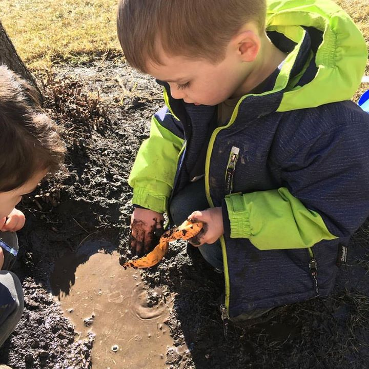 Mud Mud Glorious Mud #happyboys #mud #mudpie #letsgetmessy #spring#yyckids #yycdaycare #yycpreschool