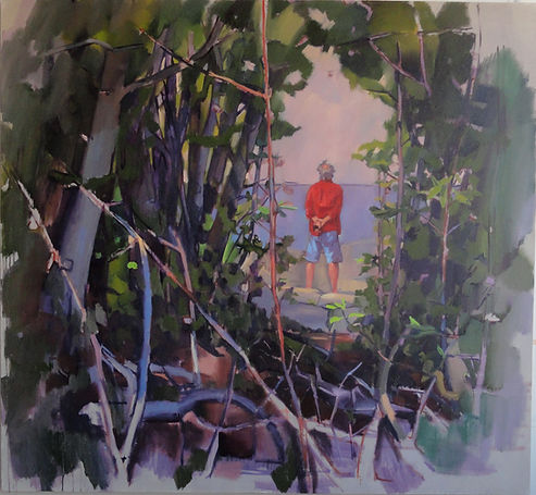 Out of the woods into the clear. By artist Tom Campbell