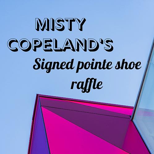 Misty Copeland's Signed Pointe Shoe Raffle!