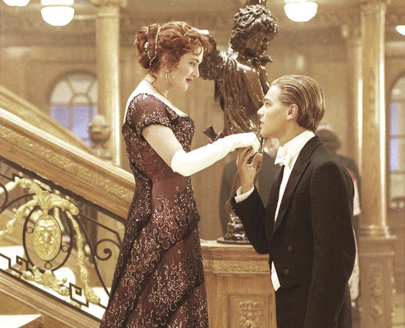 "Photo Credit: Kate Winslet and Leonardo DiCaprio in ""Titanic."" ©1997 Courtesy of 20th Century Fox."