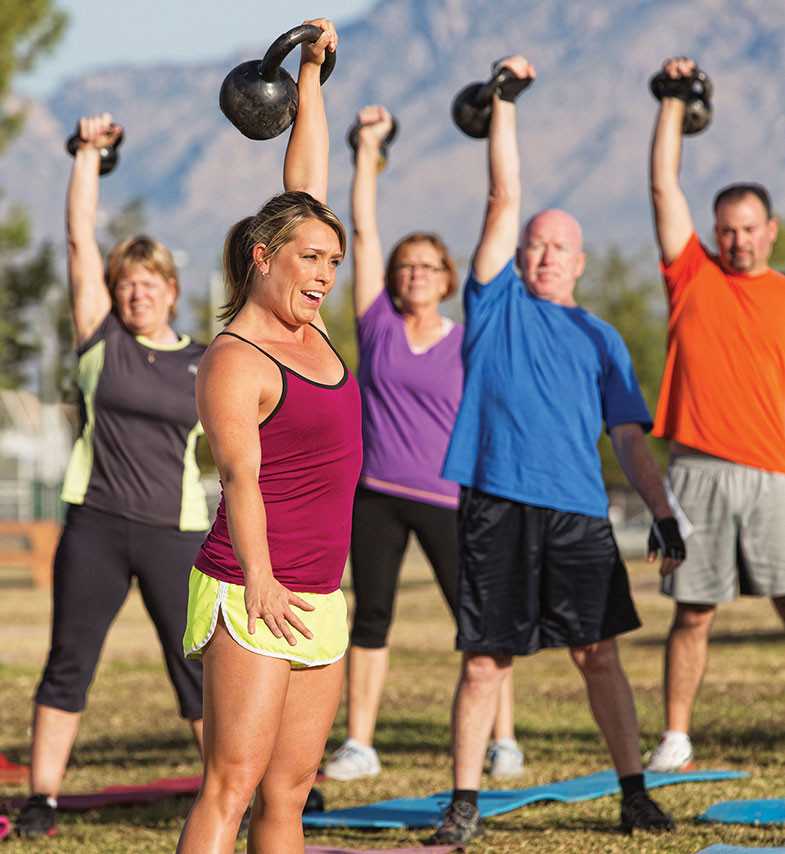 older students learn in fitness classes how to stay fit
