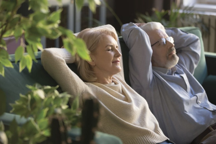 relaxing couple
