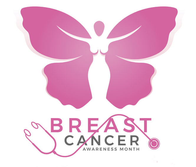 breast cancer awareness month butterfly logo