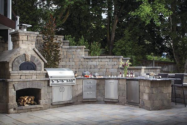 outdoor kitchen stone professional design