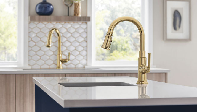 curved neck faucets used in kitchen design