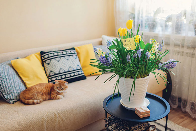 decorating ideas for spring bright flowers colors