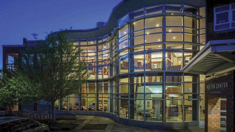 Exterior of a university building