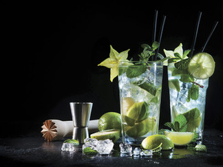 Herb-Infused Cocktails and Ice Cubes