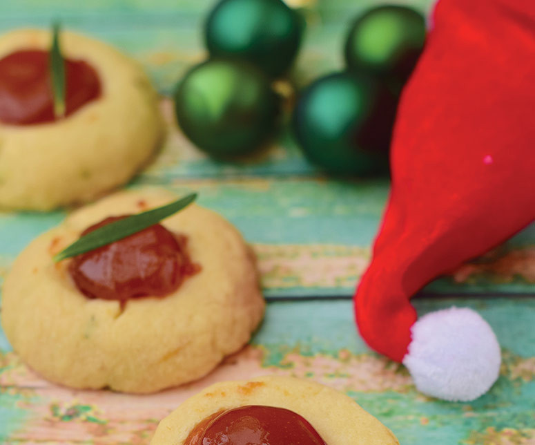 thumbprint cookies grandma christmas sugar decorate santa