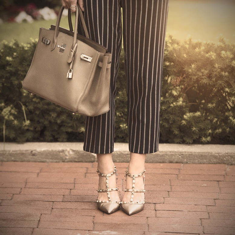 pants, purse and shoes