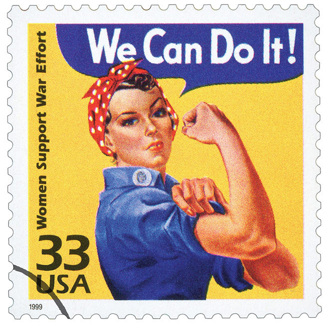 postage stamp image of Rosie the Riveter