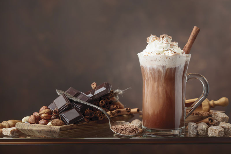 hot chocolate and more chocolate