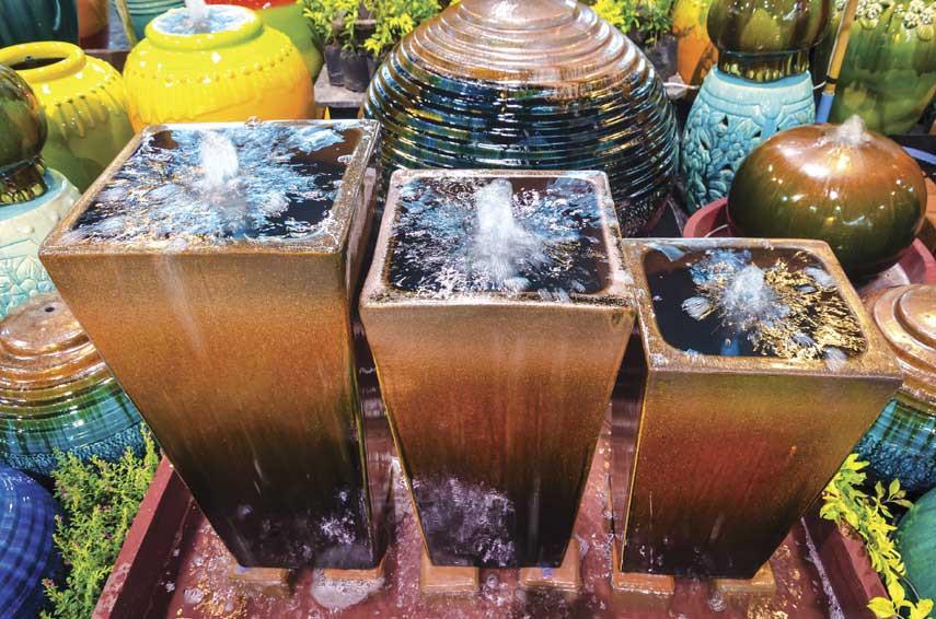 water filled jars