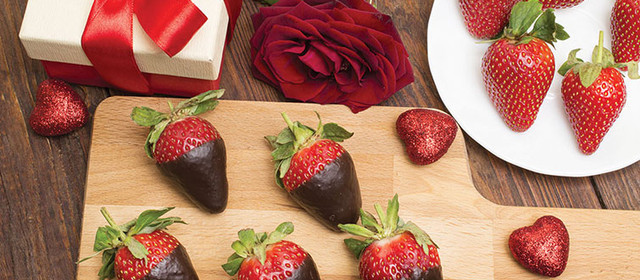 Chocolate-Covered Strawberry Hearts
