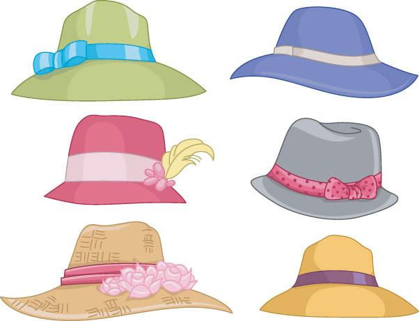 cartoon drawings of hats