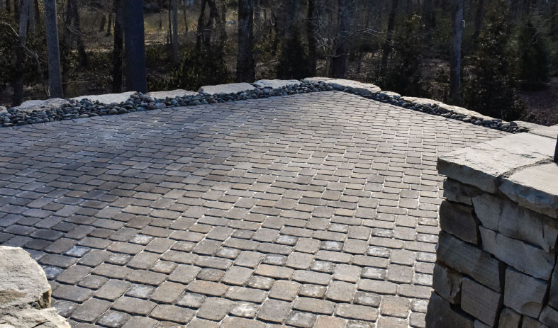 a look at the finished patio paver project