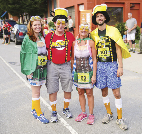 Costumed runners at fun event