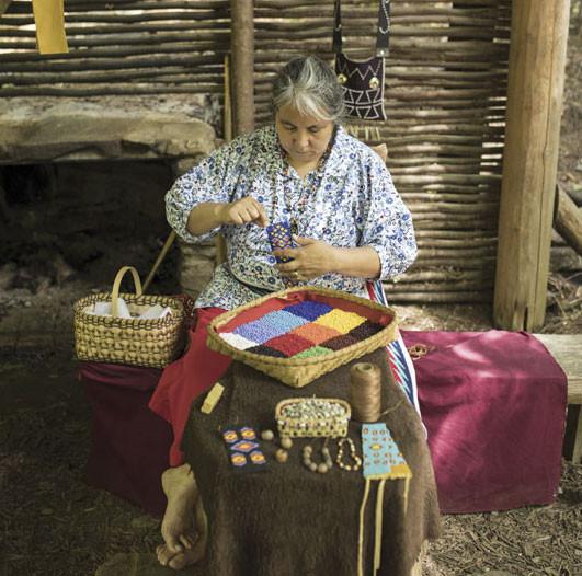 Cherokee artisan at work