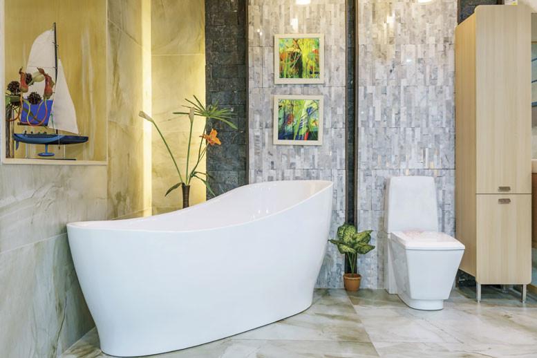 Sculpted tub