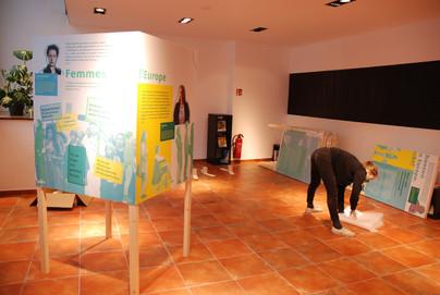 Ausstellungsaufbau