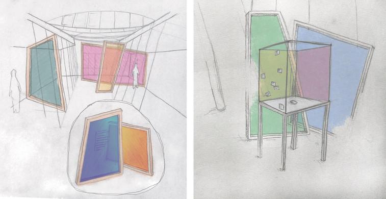 """Entwurfsskizze für die Sonderausstellung """"Koloniale Industrialisierung""""  (Wettbewerb am Museum der Arbeit Hamburg, 2. Platz) - Ein Projekt von gwf-ausstellungen"""