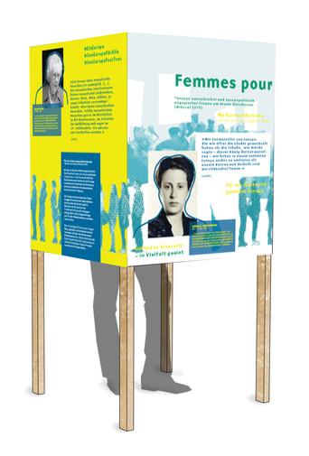 Visualisierung mit einem ersten Grafikentwurf  der Grafikerin Lisa-Lotta Adomeit