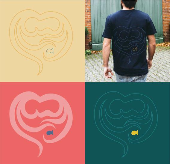 Wettbewerbsbeitrag für ein T-Shirt Design  der Firma Salzwasser zum Thema Mangroven
