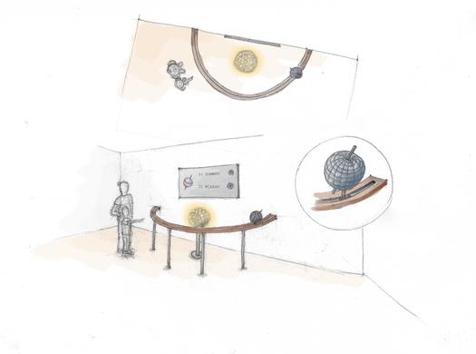 Zeichnung einer interaktiven Station für das Museum mit der Maus - Ein Projekt von mgp ErlebnisRaumDesign GmbH