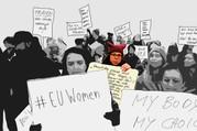 Grafikkonzept für das Protestszenario