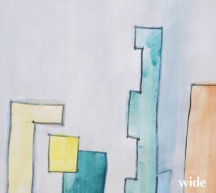 """Covergestaltung, Artwork und Layout  der CD """"wide"""" von Axel Meier"""