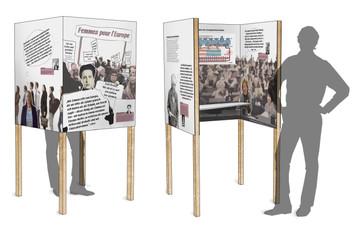 Erste Visualisierungen der Wahlkabinen  inkl. Grafikkonzept