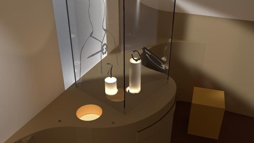 Rendering für den Entwurf der Archäologie-Abteilung  (Wettbewerb vom Sylt Museum, 1. Platz) - Ein Projekt von gwf-ausstellungen