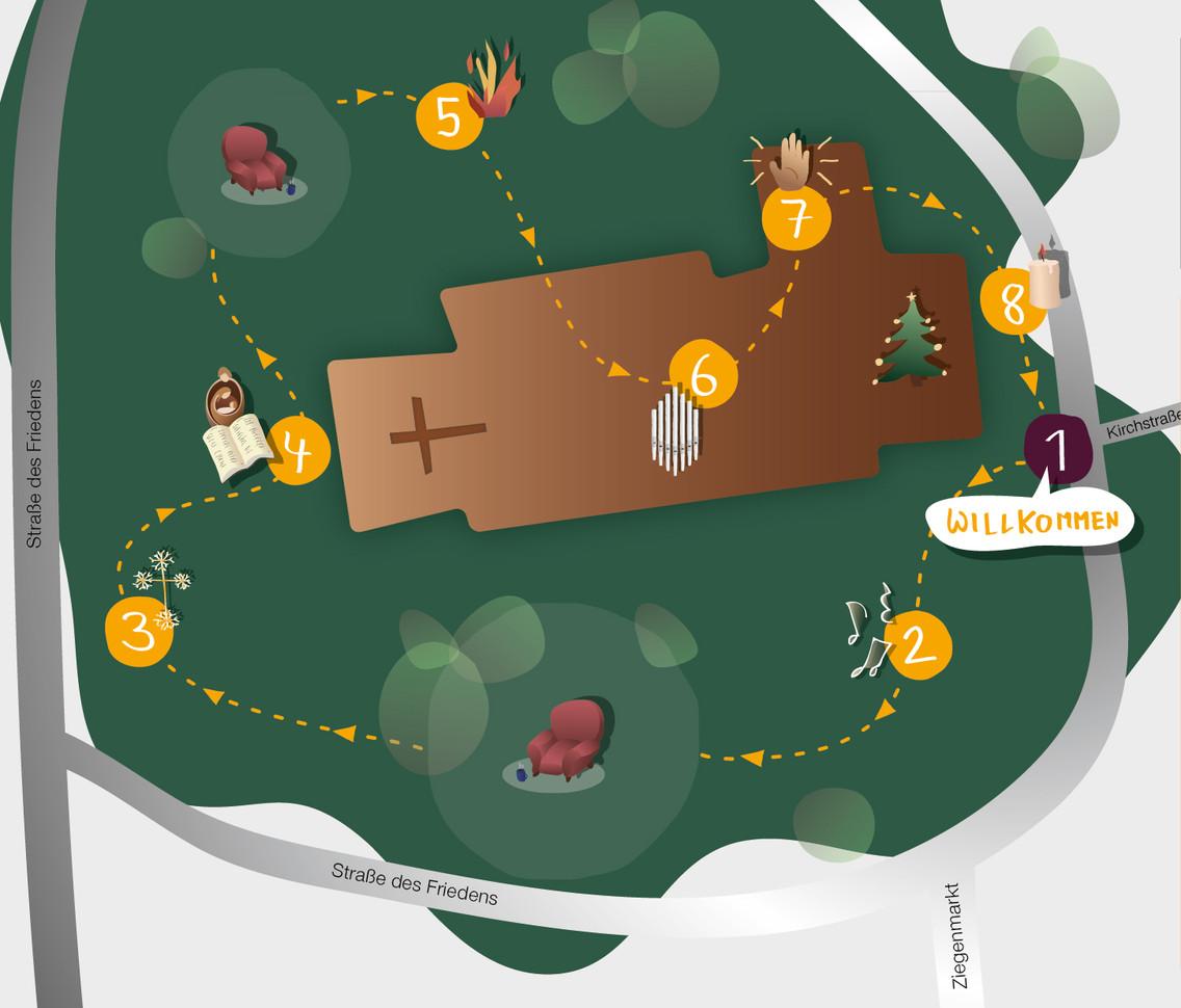 Illustration eines Lageplans