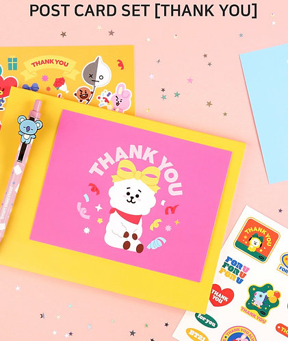 BT21 Thank You Card Set