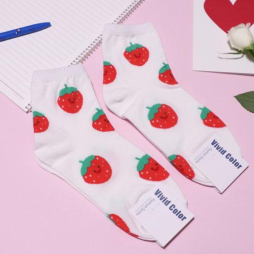 Happy Strawberry Socks