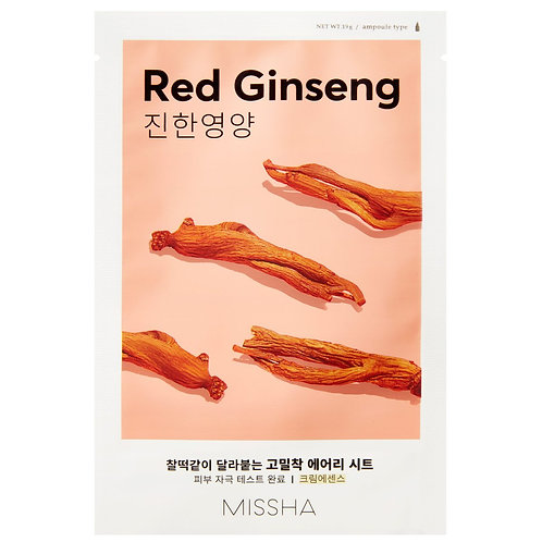 [Missha] Airy Fit Sheet Mask Red Ginseng
