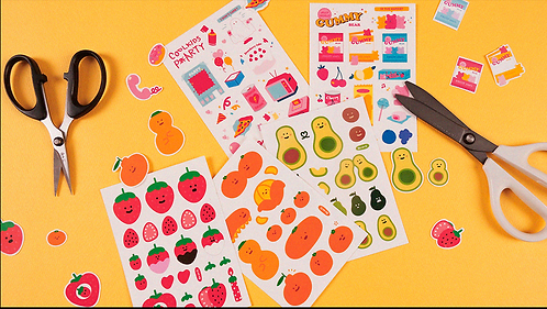 Vegetable Self Cutting Sticker