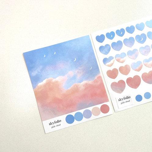 Pink Cloud Sticker
