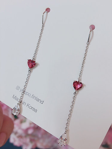 Heart Shaped Aura Earrings