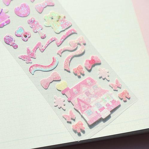 Pastel Castle Sticker