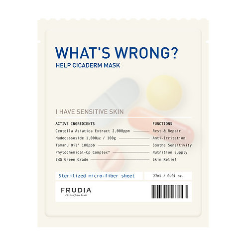 [Frudia] What's Wrong Help Cicaderm Mask