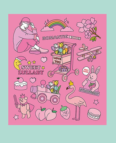Pink Sweet Lullaby Sticker Pack