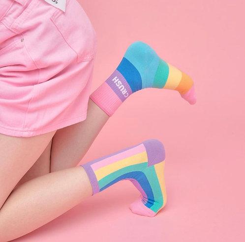 Rainbow Crush Socks
