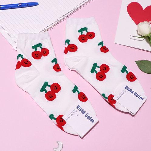 Happy Cherry Socks
