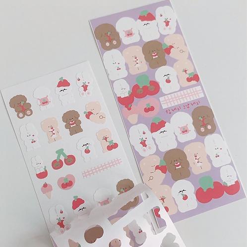 King Cherry Just Cherry Sticker