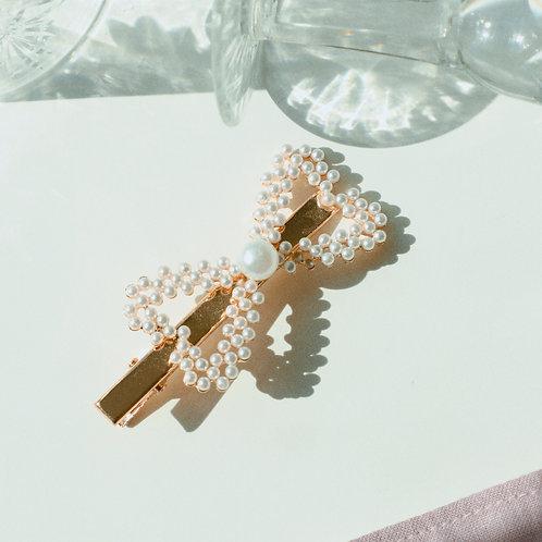 Pearl Bow Hair Pin