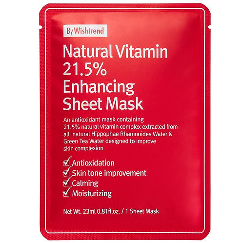 [By Wishtrend] Natural Vitamin 21.5 Echancing Sheet Mask