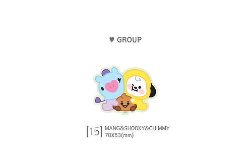 BT21 Big Group Sticker