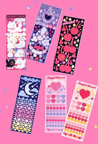 Love Flower Twinkle Seal Sticker Series