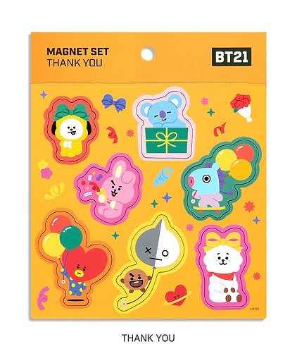 BT21 Magnet Set Thank You